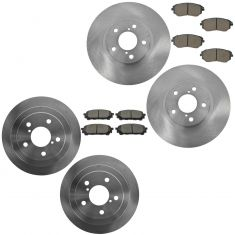 05-06 9-2X; 03-08 Forester, Impreza Front & Rear Posi Ceramic Pad & Rotor Kit