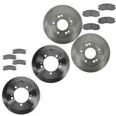 Chrysler; Dodge; Eagle; Mitsubishi Mulifit Front & Rear Ceramic Brake Pad & Rotor Kit