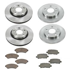 04-08 Buick Lacrosse Pontiac Grand Prix Brake Rotor Front & Rear Ceramic Disc Brake Pad & Rotor Kit