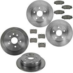 06-08 Lexus IS250 Front & Rear Ceramic Brake Pad & Rotor Kit