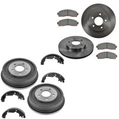 03-07 Saturn Vie; 05-06 Chevy Equinox; Torrent Front Brake Rotor & Ceramic Pad Rear Drum & Shoe Kit