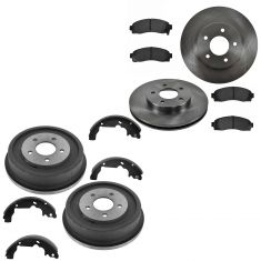 03-07 Saturn Vie; 05-06 Chevy Equinox; Torrent Front Brake Rotor & Pad Rear Drum & Shoe Kit