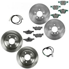 2010-11 BMW 328i; 328i xDrive Front & Rear Posi Ceramic Disc Brake Pad Rotor & Sensor Kit