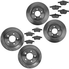 04-13 Mazda 3 2.3L, 2.5L; Front & Rear Ceramic Disc Brake Pads & Rotor Kit