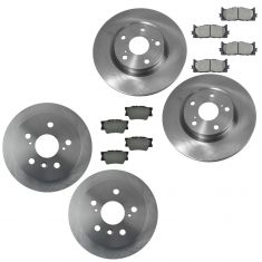 12-15 Camry, ES350, Avalon Front & Rear Semi Metallic Pad & Rotor Kit