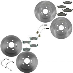 98-05 Mercedes Benz ML320 ML350 ML450 Front & Rear Premium Posi Ceramic Pad & Rotor Kit w/sensors
