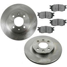 06-11 Kia Rio; 06-11 Hyundai Accent Front Semi-Metallic Disc Brake Pad & Rotor Kit