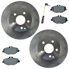 03-09 Mercedes E320; 07-09 E350 Front Premium Posi Semi-Metallic Disc Brake Pad Rotor & Sensor Kit