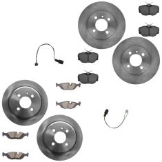 91-93 BMW 318, 325, 528 Front & Rear Posi Ceramic Pad & Rotor Kit w/ Sensors