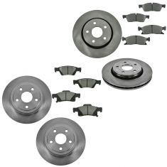 11-12 Durango (w/Std Brakes), 11-12 Grand Cherokee (w/17 Inch Whls) Front Ceramic Pad & Rotor Kit