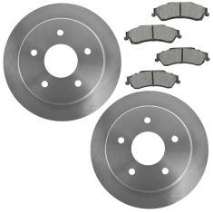 97-05 S10 Sonoma Blazer Jimmy Hombre Bravada Rear Metallic Pad & Rotor Kit
