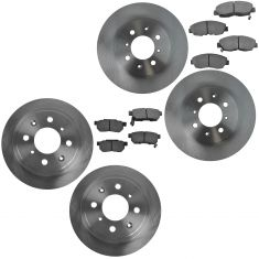90-01 Integra; 92-00 Civic CRX DelSol Front & Rear Premium Posi Ceramic Pad & Rotor Kit