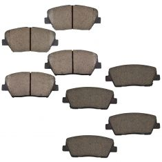 10-14 Santa Fe; 11-14 Sorento Front & Rear Posi Ceramic Brake Pad Set