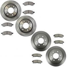 Metallic2002-05 Trailblazer Envoy Ascender Metallic Brake Pad & Rotor Kit Front & Rear