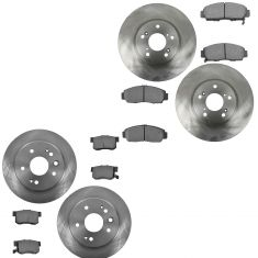 99-03 Acura 3.2TL Front & Rear Brake Rotor & Metallic Pad Kit