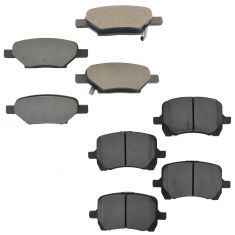 04-12 GM Fwd Front & Rear Premium Posi Metallic Disc Brake Pad Kit