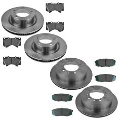 07-13 Tundra Front & Rear Ceramic Brake Pad & Rotor Kit