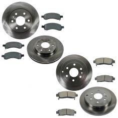 07-13 Acadia, Outlook, Traverse Front & Rear Metallic Brake Pad & Rotor Kit
