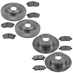 07-09 Nissan Altima Posi Metallic Pad & Rotor Kit Front & Rear