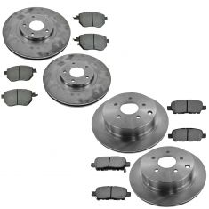 03-04 Nissan Murano Front & Rear Posi Metallic Brake Pad & Rotor Kit