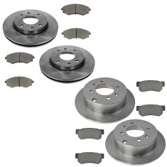 01 Kia Optima Front & Rear Ceramic Brake Pad & Rotor Kit