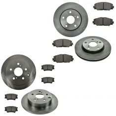 06-12 Toyota Rav4 Front & Rear Ceramic Brake Pad & Rotor Kit
