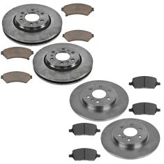 06-09 Buick Chevy Pontiac Saturn Front & Rear Brake Rotor & Premium Posi Ceramic Pad Kit