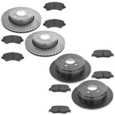 07-11 Dodge Nitro; 08-12 Jeep Liberty Front & Rear Ceramic Brake Pads & Rotors Kit