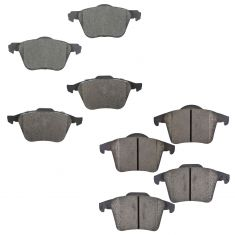 03-14 Volvo XC90 Front & Rear Ceramic Brake Pad Kit