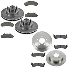 95-00 Explorer 2wd Front & Rear Ceramic Brake Pad & Rotor Kit