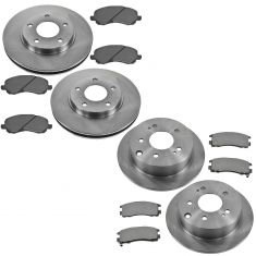 04-08 Galant; Front & Rear Semi Metallic Disc Brake Pad & Rotor Kit