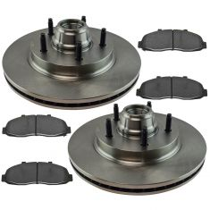97-99 2WD F150; Front Ceramic Disc Brake Pad & Rotor Kit