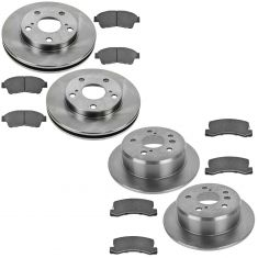 92-96 Toyota Camry; Front & Rear Ceramic Brake Pad & Rotor Kit