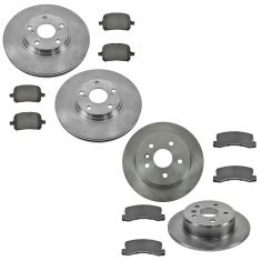 98-01 Lexus RX300; Front & Rear Ceramic Brake Pad & Rotor Kit