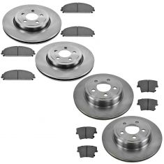 Dodge Chrysler Multifit Front & Rear Premium Posi Ceramic Brake Pad & Rotor Kit