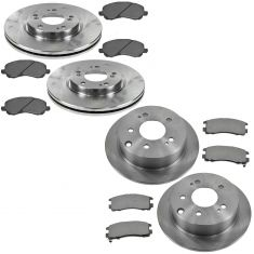 04-07 Galant Eclipse Front & Rear Premium Posi Semi Metallic Pad & Rotor Kit