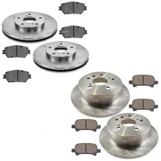 02-06 Camry USA Built Front & Rear Ceramic Brake Pad & Rotor Kit