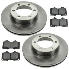 01-07 Sequoia; 00-06 Tundra Front Semi Metallic Disc Brake Pad & Rotor Kit