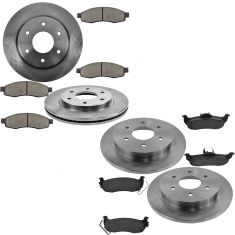 05-06 QX56; 05-06 Armada, 05-07 Titan Front & Rear Ceramic Pads & Rotors Set