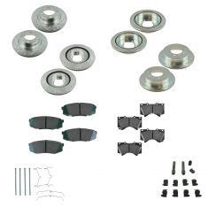 08-12 Sequoia, Tundra Front & Rear Performance Brake Rotor & Ceramic Pad Set w/Hardware