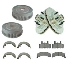 96-02 Express 1500 Front Performance Brake Rotor, Pad & Rear Drum & Shoe Kit