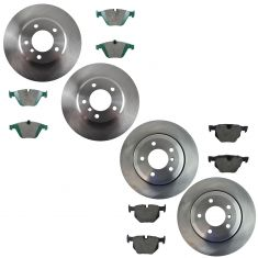 04-06 BMW 525 Front & Rear Ceramic Brake Pad & Rotor Kit
