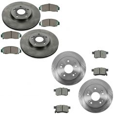 11-14 Acura TSX; 11-12 Accord Front & Rear Premium Posi Ceramic Disc Brake Pad & Rotor Kit