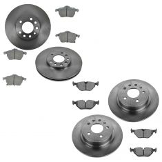 99-05 Saab 9-5 Front & Rear Ceramic Brake Pad & Rotor Kit