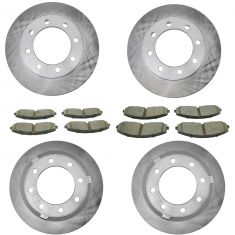 13-16 F250; F350 Super Duty Front & Rear Premium Posi Ceramic Brake Pad & Rotor Kit