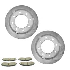13-16 F250; F350 Super Duty Rear Premium Posi Ceramic Brake Pad & Rotor Kit