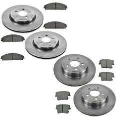 Front & Rear Premium Posi Semi Metallic Brake Pad & Rotor Kit for Chrysler New