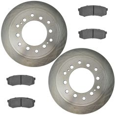 10-16 GX460; 10-15 4Runner Rear Premium Posi Ceramic Brake Pad & Rotor Kit