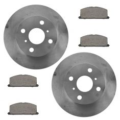 96-98 Paseo; 91-99 Tercel Front Ceramic Brake Pad & Rotor Kit