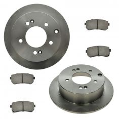 10-13 Kia Forte Rear Ceramic Disc Brake Pad & Rotor Kit